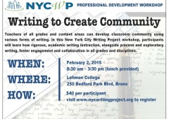 Writing to Create Community Workshop 2/2/15