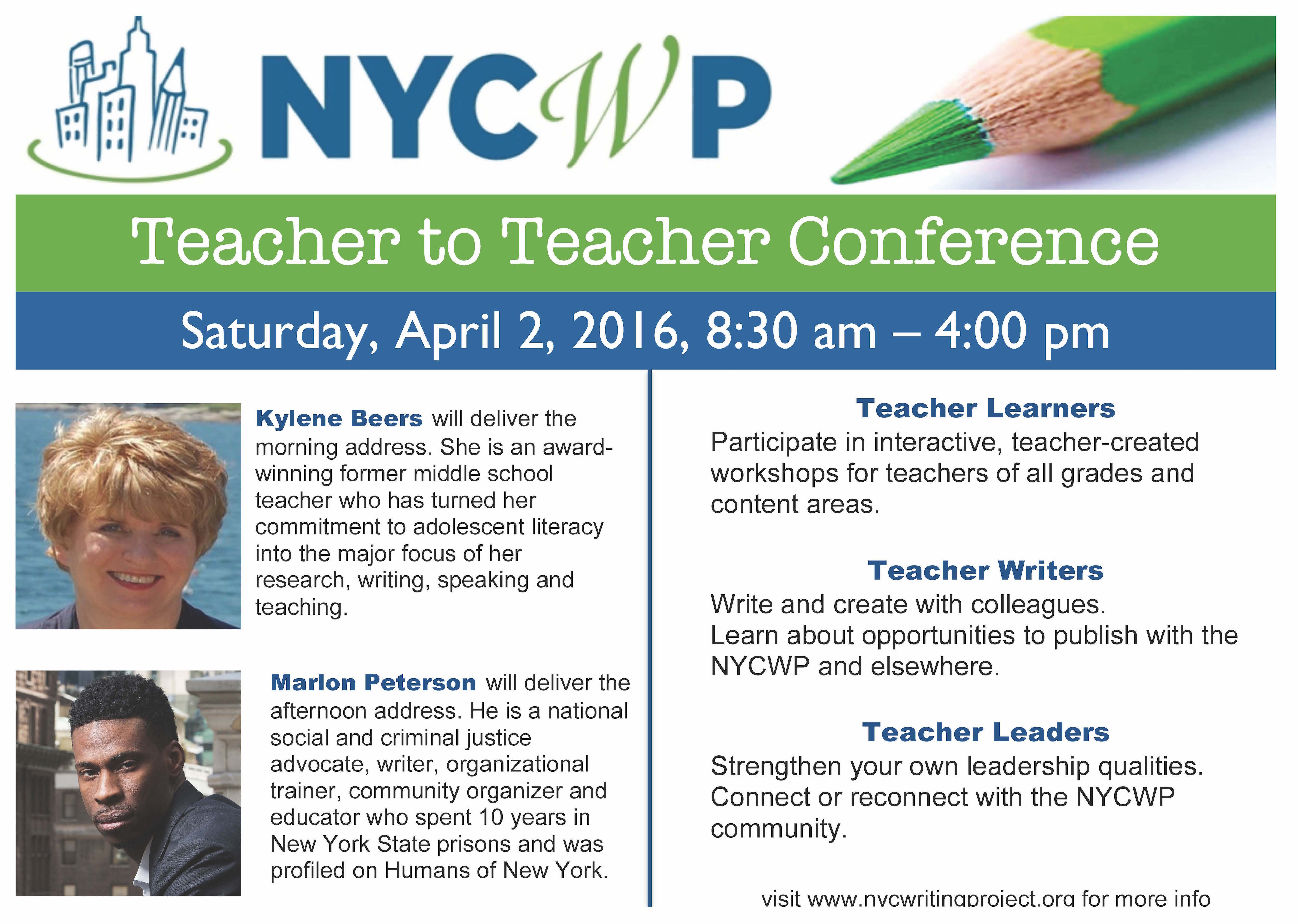 Teachers As Leaders Forum 2016 Workshop >> New York City Writing Project Past Events