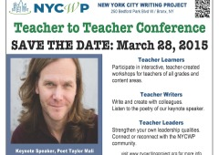 Save The Date: Taylor Mali at Teacher to Teacher 2015