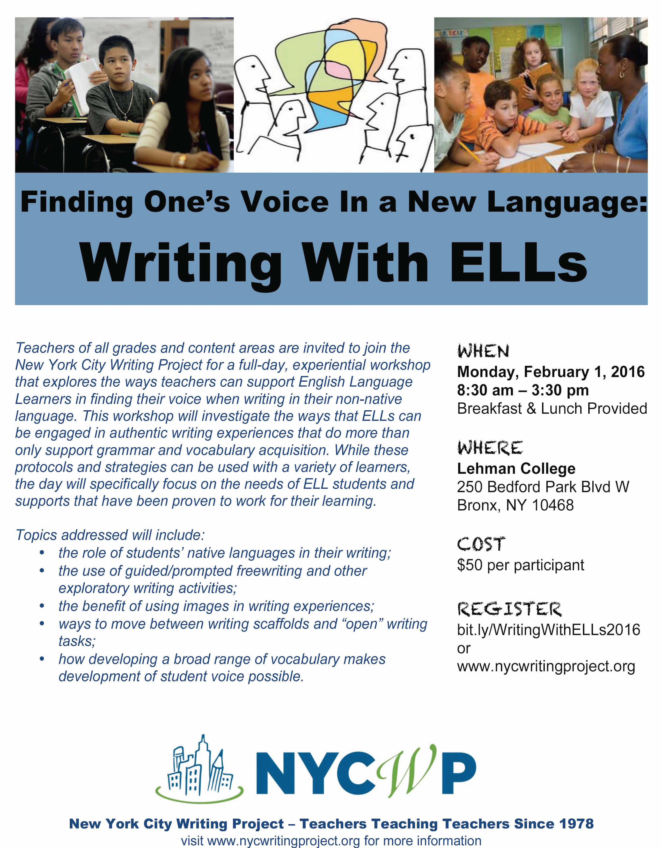 nyc writing project Course catalogue select a filter  nyc courses online courses sign up to receive writing advice, news, and special deals subscribe purchase classes.