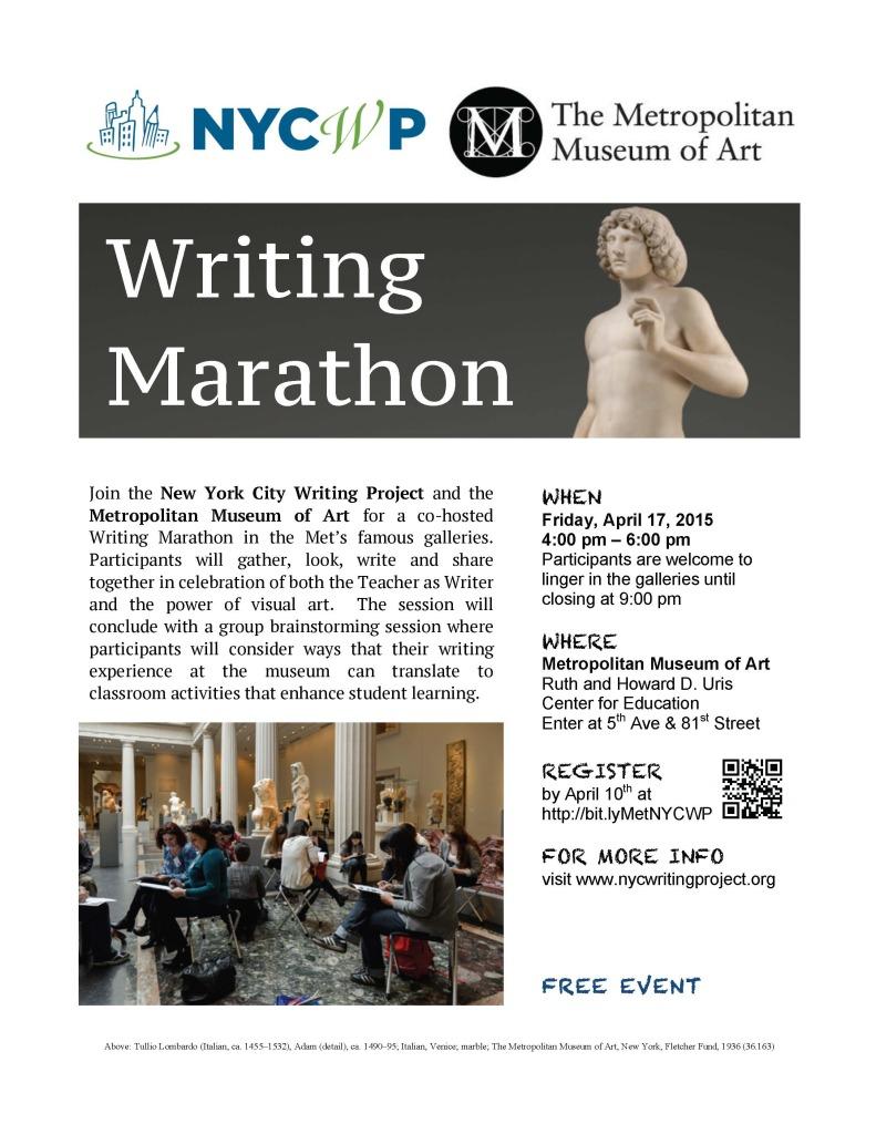 DRAFT Spring Writing Marathon Flyer