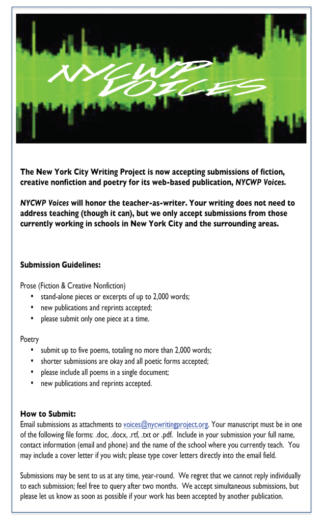 NYCWP Voices Flier