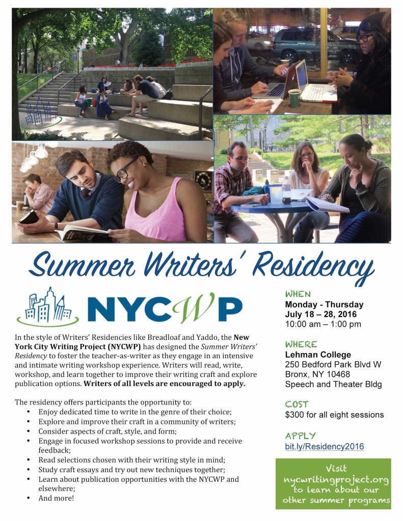 NYCWPWritersResidency2016