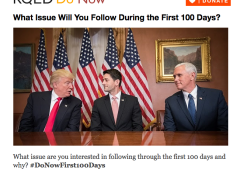 What Issue Will You Follow in the First 100 Days?