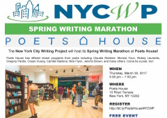 Spring Writing Marathon at Poets House