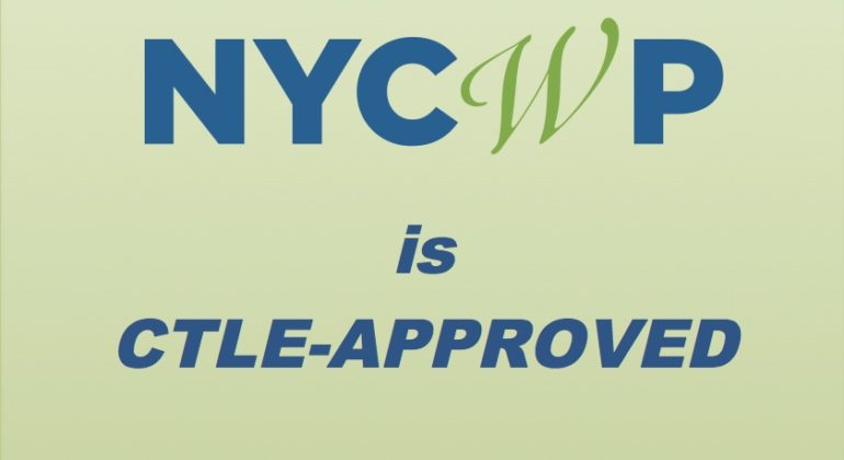 The New York City Writing Project is CTLE-Approved