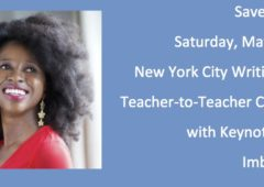 Save the Date: Teacher-to-Teacher Conference Saturday, May 19, 2018 with Author Imbolo Mbue