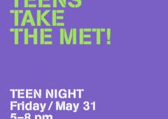 November 8, 2019: Teens Take the MET!